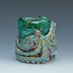 1 XL LargeHole Reticulated Octopus Dread Bead by TileGoddess, $125.00
