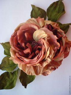 Купить цветы из кожи. брошь-роза. - брошь-цветок, цветок из кожи, натуральная кожа