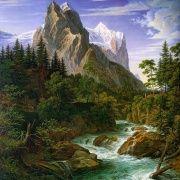 """АЖ-1138 Алмазная живопись """"Река у подножия горы"""" (набор) 50х50"""