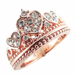 Rose Gold Amore Crown Ring – Sparkle & Jade Boutique