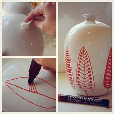 Easy #DIY, grab a #porcelaine150 marker and draw!