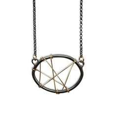 Cross Stitch Oval Necklace, $112, now featured on Fab.
