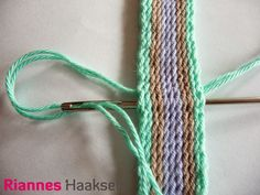 Tutorial ply split Inkle Weaving, Inkle Loom, Hand Weaving, Tapestry Bag, Tapestry Crochet, Wiggly Crochet, Knit Crochet, Mochila Crochet, Crochet Stitches Patterns