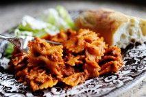 Bowtie Lasagna  http://tastykitchen.com/blog/2010/07/a-tasty-recipe-bowtie-lasagna/
