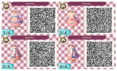 Princess dress. QR codes.