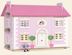 The Le Toy Van Bay Tree Dolls House is fully decorated inside & out with opening windows, opening shutters, an opening front door and a removable roof with upper floor (3 floors in total). It is very easy to slot together and assemble.    The dolls and dolls house furniture are sold separately.