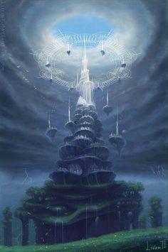 26 ideas for fantasy landscape magic animation Fantasy City, Fantasy Places, Fantasy Kunst, Fantasy World, Fantasy Castle, Dark Fantasy, Fantasy Artwork, Fantasy Concept Art, Creation Art