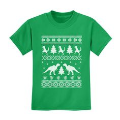 T Rex Ugly Christmas sweater Toddler-Kids by GreenTurtleTshirts