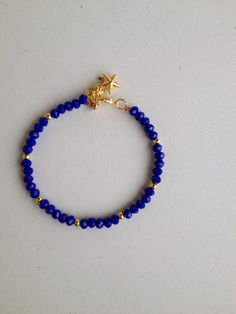 Blue chinese crystal bracelet pulseira de cristal chines azul