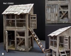Neapolitan Style Crèche/Presepe chicken coops by Lola Simon Village Miniature, Miniature Dolls, Diy Dollhouse, Dollhouse Miniatures, Sims Building, Barbie Doll House, World Crafts, Polymer Clay Miniatures, Hobby Farms
