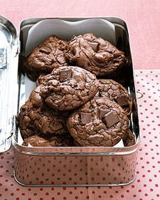 Outrageous Chocolate Cookies  These soft and chewy cookies give you a double dose of chocolate to satisfy your craving.
