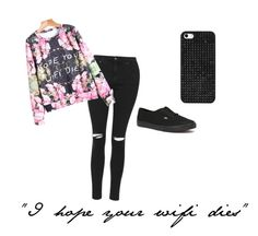 """""""Untitled #33"""" by freaking-theresa ❤ liked on Polyvore featuring Topshop, Vans and BaubleBar"""