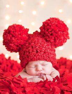 valentine's day baby hat