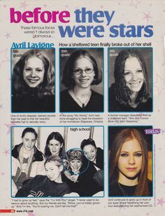 Before They Were Stars Avril Lavigne Everybody Hurts, It Hurts, Avril Lavigne Style, Abbey Dawn, Punk Princess, Under My Skin, Pop Punk, Iron Maiden, Famous Faces
