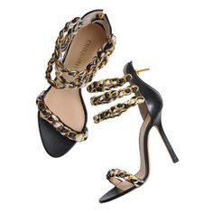 Sandal EMILIO PUCCI ($820) ❤ liked on Polyvore featuring shoes, sandals, heels, sapatos, black, heeled sandals, emilio pucci, black sandals, emilio pucci sandals and black shoes