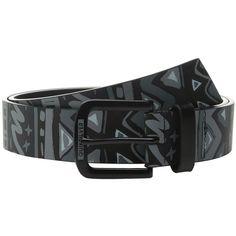 Quiksilver Hectic Belt (Black) Men's Belts ($24) ❤ liked on Polyvore featuring men's fashion, men's accessories, men's belts and mens belts