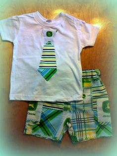 John Deere Shorts and Necktie Applique on by TheLooseCaboose, $25.00