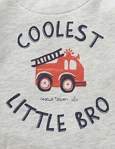 Pure Cotton Fire Engine Print Hooded Sweat Top   M&S