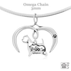 FB Jewels Solid 925 Sterling Silver Enameled Brown and Black Cairn Terrier Charm