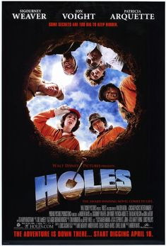 Holes. I admit I was skeptical that they could turn this complex book into a satisfying movie, but the resulting product delivers rich drama + humor + a sensitive but realistic exploration of the cruelties of racism in one winningly quirky package.