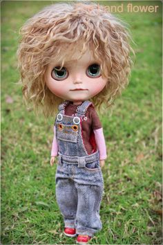 OOAK Custom Blythe muñeca cara arriba y Blythe por Thehandflower