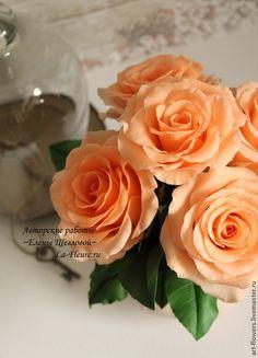 Розы (холодный Фарфор, porcelana). Автор - Елена Щеглова