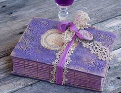 "Wedding Guest Book ""Fleur de Lis"", viola, oro, album di Vintage viola foto album, Shabby Chic Wedding, Custom Wedding Photo Booth"