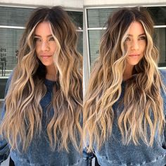 wavy light brown Best Picture For brown to blonde balayage For Your Taste You are looking fo Brown Ombre Hair, Brown Hair Balayage, Brown Hair With Highlights, Brown Blonde Hair, Hair Color Balayage, Balayage With Highlights, Carmel Blonde Hair, Brown Hair With Blonde Balayage, Balayage Hair Brunette With Blonde