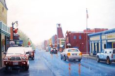 First Flurry (Park City, UT) oil on canvas, Park City, Still Life, Oil On Canvas, Fair Grounds, Street View, Gallery, Artist, Landscapes, Travel