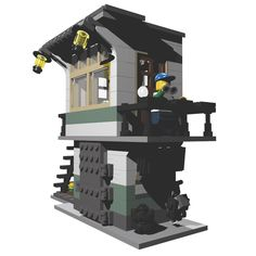 Lego Train Station, Lego Construction, Lego Trains, Lego House, Cool Lego, Lego Building, Lego City, Buildings, Tower
