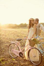 Style Me Pretty. #wedding photos #bicycles