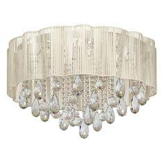Moderne LED Deckenleuchte Kristall Shabby Chic MW-Light 465013120