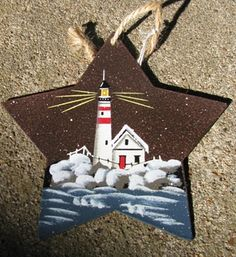 "1287 - Metal - Lighthouse Star 3 1/2"" x 3 1/2"" $ 1.95"