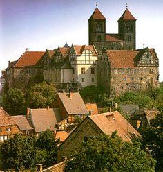 Blick auf den Schlossberg der #UNESCO #Welterbestadt #Quedlinburg im #Harz