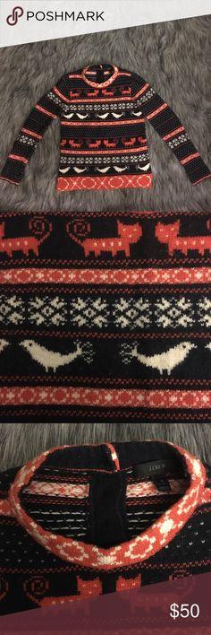 Jcrew fair isle animal sweater Jcrew sweater  Size small  45% viscose 24% Laine 23% nylon  Great condition ! J. Crew Sweaters Crew & Scoop Necks