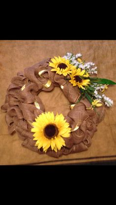 My sunflower wreath!