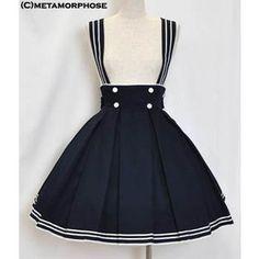 high waisted Lolita skirt | skirts knee length skirts sailor high waist skirt metamorphose lolita ...
