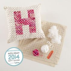 Alpha Stitch Pillow Kit by @landofnod | Holiday Gift Ideas for Dance Students by Leap 'N Learn