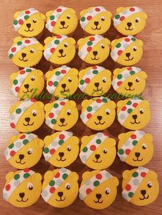 Pudsey Bear Cupcakes Children in Need Children In Need Cupcakes, Bear Cupcakes, Celebration Cakes, Baking Ideas, Sweet, Shower Cakes, Candy