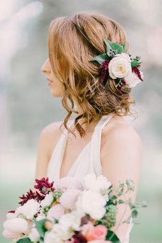 romantic bridal inspiration - photo by Nattnee Photography http://ruffledblog.com/dramatic-winter-bridal-inspiration-with-marsala