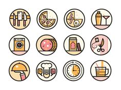 Best Restaurants designed by MUTI. the global community for designers and creative professionals. Line Design, Icon Design, Launcher Icon, Graphic Prints, Graphic Design, Vintage Artwork, Line Icon, Icon Set, Vector Design