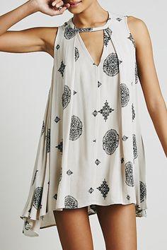 ❥❥❥Pretty Print | Loose,Fluid Sleeveless Sundress | Tunic