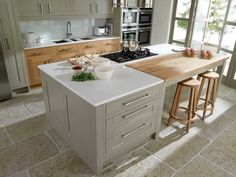 hob and sink on wood island - Google Search