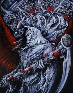 Death Reaper, Grim Reaper Art, Don't Fear The Reaper, Dark Fantasy Art, Dark Art, Reaper Tattoo, Rabbit Tattoos, Horsemen Of The Apocalypse, Satanic Art