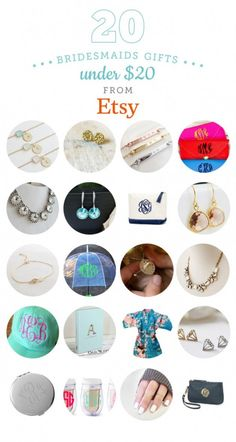 20 Bridesmaids Gifts Under $20 from Etsy | The Budget Savvy Bride | Bloglovin'