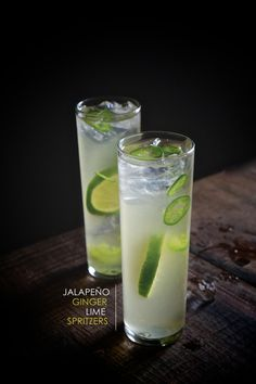 A refreshing cocktail made with sliced Jalapeños, Limes, Ginger Beer & Sparkling water.