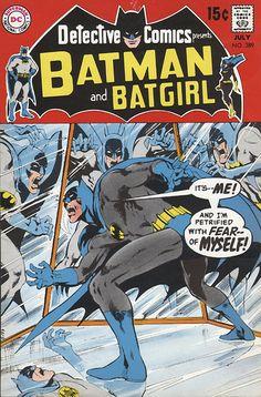 Petrified with Fear of Himself - Batman Comic.Adams.