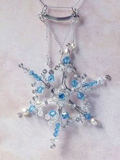 Bead and Wire Snowflake Jewelry Tutorials - The Beading Gem's Journal #wirejewelry