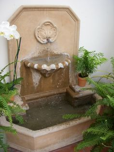Terra cotta fountain