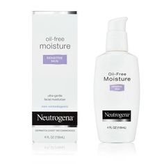 Neutrogena Oil Free Moisture Daily Hydrating Facial Moisturizer & Neck Cream with Glycerin - Fast Absorbing Ultra Gentle Lightweight Face Lotion & Sensitive Skin Face Moisturizer, 4 fl. Moisturizer For Sensitive Skin, Moisturizer For Oily Skin, Sensitive Skin Care, Skin Serum, Cleanser For Combination Skin, Combination Skin Care, Neutrogena Oil, Best Face Products, Skin Products